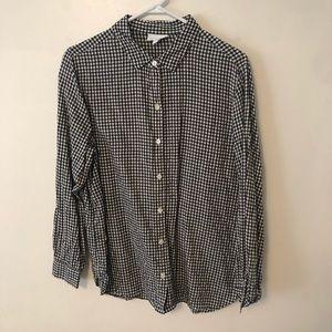 J. Jill Linen Gingham Button Shirt